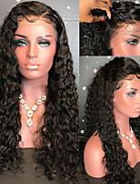 Недорогие -Remy Парик Бразильские волосы Кудрявый 130% плотность С детскими волосами С отбеленными узлами Необработанные Парик в афро-американском