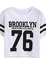preiswerte -Damen Buchstabe - Grundlegend T-shirt Druck