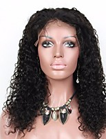 cheap -Remy Human Hair Wig Brazilian Hair Curly Layered Haircut 180% Density With Baby Hair For Black Women Black Short Long Mid Length Women's