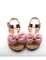 preiswerte -Mädchen Schuhe Leder Sommer Komfort Sandalen für Normal Weiß Grün Rosa