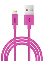 abordables -Eclairage Adaptateur de câble USB Charge rapide Haut débit Câble Pour iPhone 100cm PVC