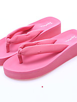 cheap -Women's Shoes Synthetic Summer Comfort Slippers & Flip-Flops Flat Heel for Casual Outdoor Black Dark Blue Pink
