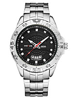 cheap -WEIDE Men's Quartz Dress Watch Chinese Calendar / date / day Water Resistant / Water Proof Large Dial Casual Watch Stainless Steel Band