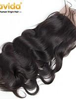 Недорогие -Yavida Все Волнистый 4X13 Закрытие Малазийские волосы Естественные кудри Швейцарское кружево Не подвергавшиеся окрашиванию Бесплатный