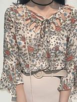 Недорогие -Жен. Блуза Классический Цветочный принт
