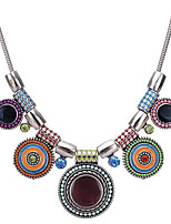 cheap -Women's Bohemian Zircon Choker Necklace - Vintage Bohemian Circle Geometric Necklace For Evening Party Going out