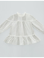 cheap -Kids Girls' Polka Dot Long Sleeves Dress