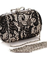 cheap -Women's Bags PU Evening Bag Bow(s) Crystal Detailing Lace for Wedding Event/Party All Seasons Gold Silver