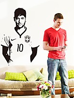 cheap -Decorative Wall Stickers - Plane Wall Stickers People Wall Stickers Famous Football Living Room Kids Room