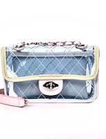 cheap -Women's Bags PU Shoulder Bag Zipper for Casual All Seasons Blue Black Blushing Pink Yellow