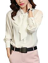 Недорогие -Жен. Блуза V-образный вырез Классический Однотонный