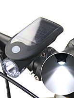 cheap -Front Bike Light LED Cycling Waterproof Li-ion 240lm Lumens Solar Powered USB Powered Camping / Hiking / Caving Cycling / Bike