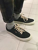 Недорогие -Муж. обувь Полотно Весна Удобная обувь Кеды Белый / Черный