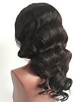 preiswerte -Unbearbeitet Perücke Brasilianisches Haar Große Wellen Wellen Stufenhaarschnitt 130% Dichte Mit Babyhaar Für Damen dunkler Hautfarbe