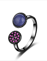cheap -Women's Cuff Ring Black Copper Opal Sweet European Wedding Daily Costume Jewelry