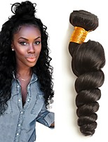 cheap -Brazilian Hair Wavy Natural Color Hair Weaves / Human Hair Extensions 4 Bundles Human Hair Weaves Extention / Hot Sale Natural Black All
