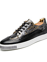 cheap -Men's Shoes PU Spring Fall Comfort Sneakers for Casual Gold Blue