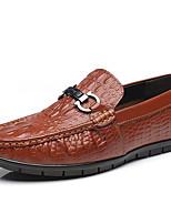 Недорогие -Муж. обувь Кожа Весна Осень Формальная обувь Удобная обувь Мокасины и Свитер Для прогулок для Повседневные Офис и карьера Черный Желтый