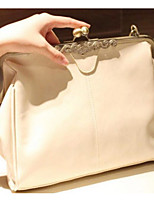 cheap -Women's Bags PU Shoulder Bag Buttons for Event / Party Black / Beige / Dark Brown