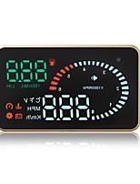 cheap -X6 3.5 inch LED Wired Head Up Display LED indicator High temperature alarm Multi-functional display Plug and play for Truck Bus Car
