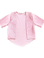 cheap -Girls' Daily Solid Colored Jacket & Coat, Polyester Spring Half Sleeves Cute Blushing Pink