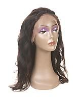 Недорогие -Laflare Жен. Волнистый 360 Лобовой Перуанские волосы Швейцарское кружево Натуральные волосы Бесплатный Часть Средняя часть 3 Часть С