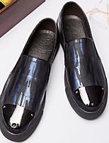 Недорогие -Муж. обувь Искусственное волокно Весна Осень Удобная обувь Мокасины и Свитер для Повседневные Черный Черный/Красный Черный / синий