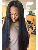 cheap -Unprocessed Wig Brazilian Hair Straight Layered Haircut 130% Density With Baby Hair For Black Women Black Short Long Mid Length Women's