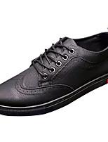 Недорогие -Муж. обувь Искусственное волокно Весна / Осень Удобная обувь Кеды Черный / Серый