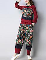 abordables -Mujer Camisa - Floral Pantalón