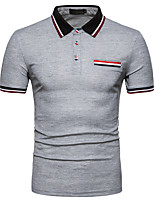 cheap -Men's Business Street chic Polo - Striped