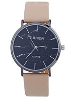 cheap -Women's Quartz Fashion Watch Chinese Large Dial PU Band Casual Minimalist Black White Blue Silver Brown Gold Pink Purple Beige Rose
