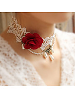 cheap -Women's Flower Choker Necklace  -  Elegant Sweet Rainbow 38cm Necklace For Wedding Evening Party
