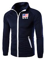 cheap -Men's Active Sweatshirt - Geometric