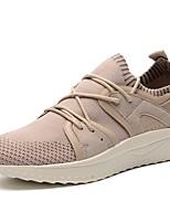 baratos -Homens sapatos Tricô / Arrastão / Tule Verão / Outono Conforto / Solados com Luzes Tênis Corrida / Caminhada Branco / Preto / Khaki