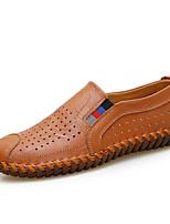 Недорогие -Муж. обувь Дерматин Весна Лето Удобная обувь Мокасины и Свитер Животные принты для Повседневные Черный Желтый Коричневый