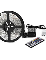 cheap -1x5M RGB Strip Lights 300pcs LEDs 1 44Keys Remote Controller 1 X 5A power adapter RGB Cuttable Self-adhesive Linkable Decorative DC 12V