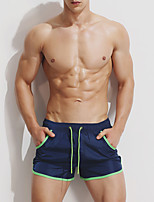 cheap -Men's Sporty Bottoms - Solid Colored Lace up Swim Trunk