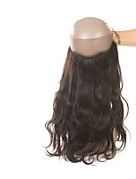 Недорогие -Laflare Жен. Волнистый 360 Лобовой Индийские волосы Естественные кудри Швейцарское кружево Натуральные волосы Бесплатный Часть Средняя