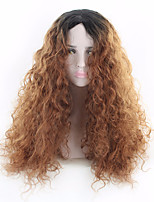 cheap -Synthetic Wig Wavy Middle Part Heat Resistant Brown Women's Capless Carnival Wig Party Wig Lolita Wig Natural Wigs Cosplay Wig Long