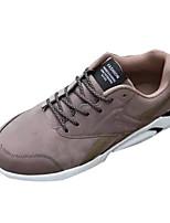 baratos -Homens sapatos Micofibra Sintética PU Primavera / Outono Conforto Tênis Preto / Cinzento / Marron