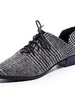 abordables -Femme Chaussures Polyuréthane Printemps Confort Oxfords Talon Bas Bout pointu pour Noir Kaki