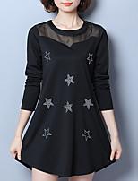 abordables -Femme Grandes Tailles Chic de Rue Mince Patineuse Robe Géométrique Mini