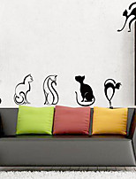 abordables -Tatuajes de pared Calcomanías Decorativas de Pared - Pegatinas de pared de animales Animales Puede Cambiar de Ubicación Removible
