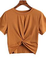abordables -Tee-shirt Femme, Couleur Pleine Mignon