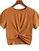 baratos -Mulheres Camiseta Fofo Sólido