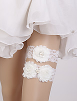 cheap -Chiffon Lace Pastoral Style Wedding Wedding Garter 617 Rhinestone Garters Wedding Party Evening