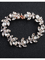 cheap -Women's Crystal Floral 1pc Chain Bracelet - Floral Fashion European Flower Gold Silver Bracelet For Wedding Daily