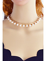 cheap -Choker Necklace  -  Imitation Pearl Gold 36.5 cm Necklace For Party / Evening, School