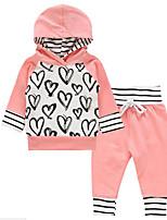 cheap -Toddler Girls' Striped Print Long Sleeves Clothing Set